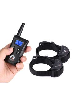 PaiPaitek PD520S-2 500M Dog Training Collar  Rechargeable Electrical Anti Bark Waterproof Remote Pet Training Tool Energy-saving For 1 or 2 Dogs