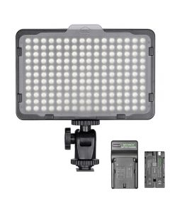 Neewer Dimmable 176 LED Video Light for Canon Nikon Digital SLR Cameras with 2200mAh Li-ion Battery