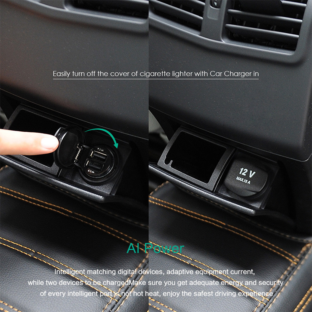 Aukey 4.8A Dual USB Mini Fast Car Charger Worldwide Fast ...